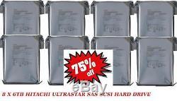 8 X 6TB 3.5 Hitachi HGST Ultrastar Helium 3.5 SAS SCSI HDD Server Hard Drive