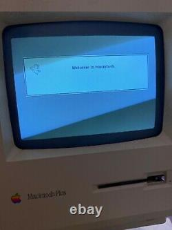Apple Macintosh Plus SE, 2 GB External SCSI Hard Drive, System 7.1 APPS GAMES