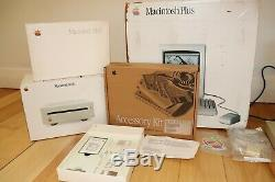 Apple Macintosh plus, original packaging, with RARE SCSI Harddrive