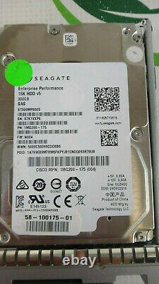 Cisco UCS-HD300G15K12G 300GB 15K RPM 12Gb/s 2.5 SAS Hard Drive HDD