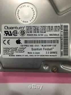 Fb12s012 Quantum Fireball 1gb 50pin SCSI Hard Drive 1280s Fb12s023 655-0141 Os8