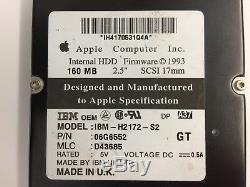 Genuine Apple SCSI Hard drive 2.5 160 MB. SCSI 17mm, IBM-H2172-S2