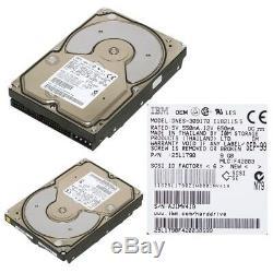 HARD DRIVE IBM DNES-309170 9GB 7.2k SCSI 50-PIN 25L1790