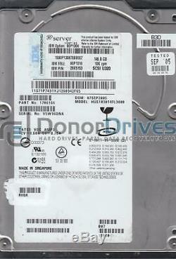 HUS103014FL3800, PN 17R6166, MLC RXQK, IBM 146.8GB SCSI 3.5 Hard Drive