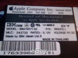 Hard Disk Drive IBM OEM IBM-H3171-S2 P/N 66G4311 SCSI D43733 160MB Apple