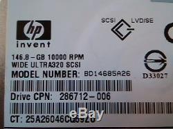 Hard Disk Drive SCSI HP invent Ultra320 BD14685A26 286712-006 3R-A3835-AA D33027
