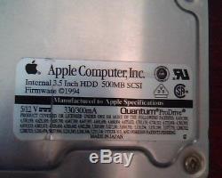 Hard Drive Disk SCSI Apple 500MB Quantum ProDrive 540S MV50S023 03-A S0905 HDD