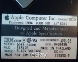 Hard Drive Disk SCSI IBM OEM Apple DPES-31080 84G9438 E15176 E33252 S