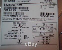 Hard Drive Disk SCSI Seagate Cheetah Ultra320 ST3146807LW 9V2005-002 0002