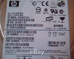 Hard Drive SCSI HP Invent ST336607LW 291244-001 A-01-0446-2 9V4005-030 36.4GB