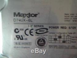 Hard Drive SCSI Maxtor D740X-6L MX6L080J4 24P3665 80 GB