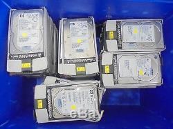 JOB LOT 43 x HP 146GB 300GB SCSI 3.5 HARD DRIVE WORKING inc. VAT