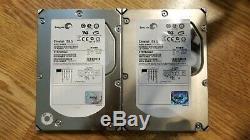 Lot of (2) Seagate Cheetah 15K. 5 73.4 GB 15000 RPM SCSI Hard Drives ST373455LC