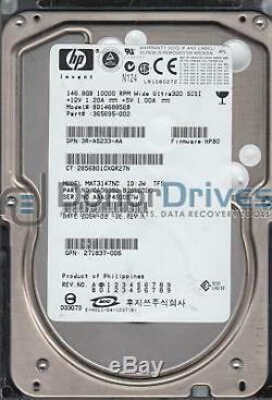 MAT3147NC, PN CA06350-B10100DC, HP 146.8GB SCSI 3.5 Hard Drive