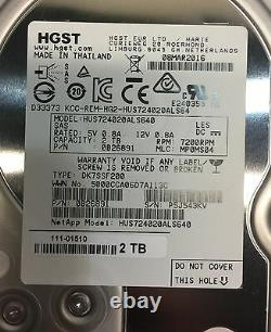 Netapp E-x4037b-r6 2tb 7.2k Hitachi Hus724020als640 0b26891 111-01510 Hard Drive
