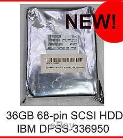 New IBM 36 GB Hdd Dpss-336950 07n3100 68-pin SCSI Hard Disk Festplatte Neu #pf01