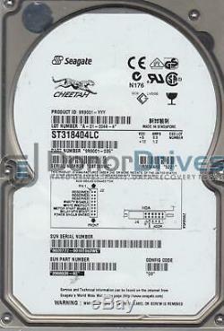 ST318404LC, 3BT, SG, PN 9N9001-035, FW 5221, Seagate 18GB SCSI 3.5 Hard Drive