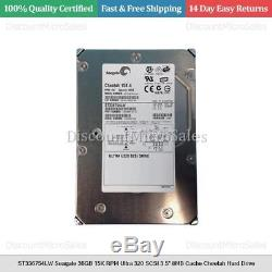 ST336754LW Seagate 36GB 15K RPM Ultra 320 SCSI 3.5 8MB Cache Cheetah Hard Drive