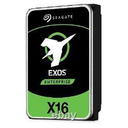 Seagate Exos X16 16TB SAS 6Gb/s 3.5 Hard Drive 7200RPM, 256MB Cache