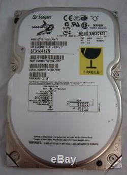 Seagate ST318417N 18.4GB SCSI 50PIN 7200RPM 3.5 Hard Drive