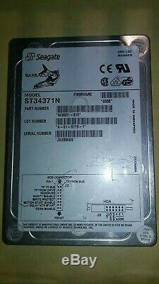 Seagate ST34371N 4.5 Gig 50 pin SCSI Hard Drive