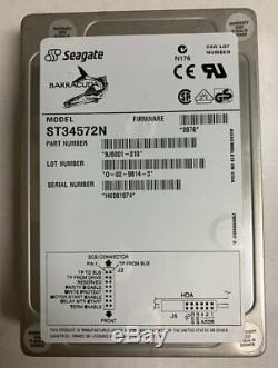 Seagate ST34572N 4.5GB 50-PIN SCSI Hard Drive