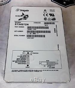 Seagate St34572n 50pin SCSI Hard Drive P/n9j6001-010 F/w0876