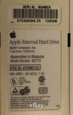 Vintage Apple 1GB External SCSI Hard Drive, model M2115