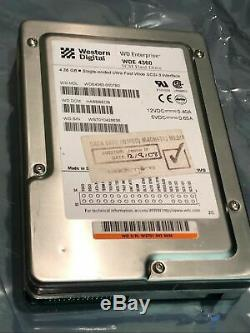 WESTERN DIGITAL WDE-4360-0007B2 68 PIN SCSI HARD DRIVE WDE4360 ad1d7